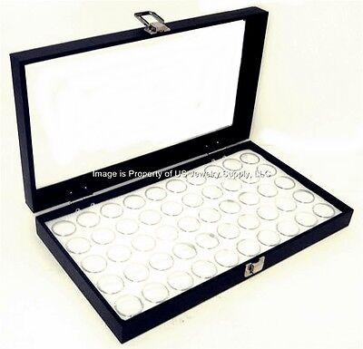 Glass Top White 50 State Quarter Coin Collectors Showcase Display Case Box