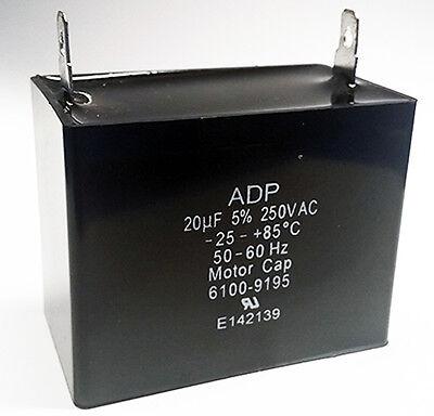 Motor Run Capacitor Metallized Polypropylene 20uf 250vac 5 Adp250a206j 1 Pc