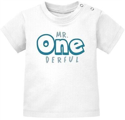 Baby T-Shirt kurzarm Babyshirt Mr Onederful Geburtstag 1 Jahr Geschenk Mädchen
