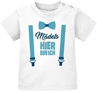 Baby T-Shirt kurzarm Babyshirt Mädels hier bin ich lustig Spruch Jungen