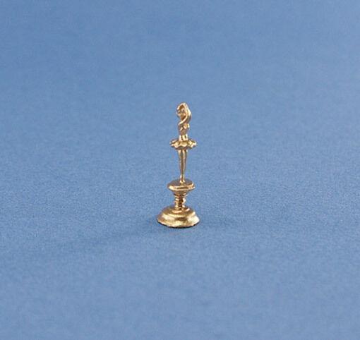 1:12 Scale Dollhouse Miniature Gold Ballerina Trophy/figurine #jlm149