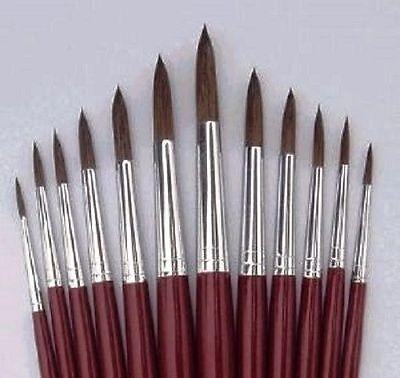 Fino Pelo Pincel Set X 6 Tallas 0 ,00 ,000 para Modelismo/Figura...