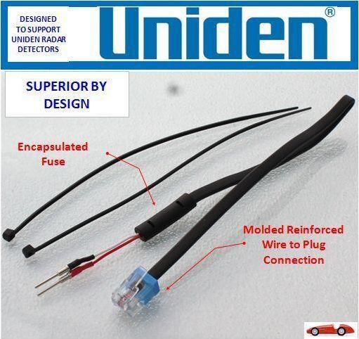 UNIDEN - R3 and R1 Radar Detector - Direct Mirror Power Cord          (MP-UND)
