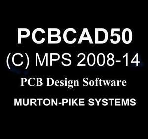 PCBCAD50 pcb CAD printed circuit board design software, latest 2014 version.