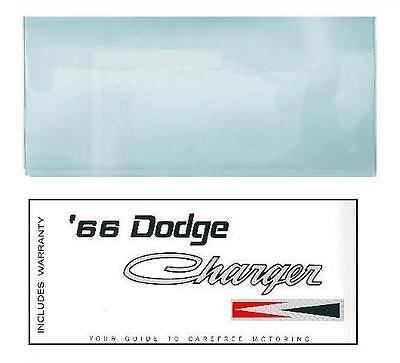 1966 66 Dodge Charger Owner's Manual & Cover