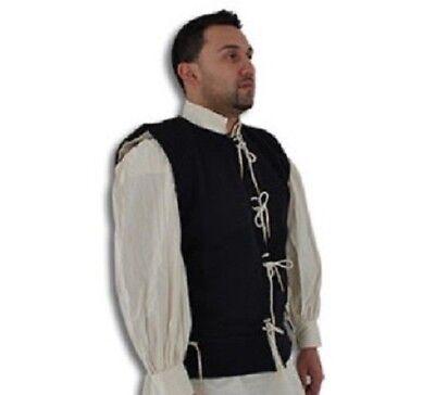 15th Century Medieval Waistcoat Vest Wool/Cotton Renaissance LARP SCA Pirate - Medieval Vests