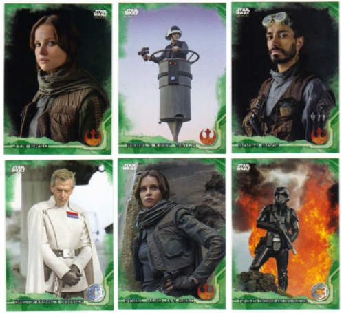 Star Wars Rogue One Green Parallel Base Card #69 Stormtrooper in the Jungle