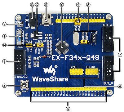 Ex F34x Q48 C8051f C8051f340 Development Board Jtag C2 Interface For Programming