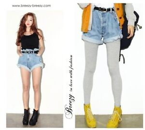 Oversized Vintage Bleach Ladies Boyfriend Denim Jeans Shorts Pants Roll Up Cuffs