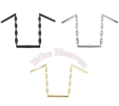 """NEW! Bicycle Flat Twisted Handlebar 15"""" 25.4mm  Lowrider Cruiser Chopper 3 COLOR"""