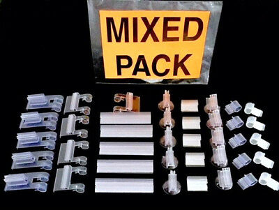 Mixed Pk Bargain Price Wire Shelf Display Case Window Sign Label Tag Holders