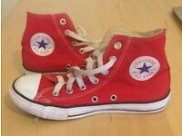 Red converse size 2