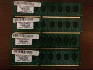 Unifosa 2x4 8GB PC3-10600 DDR3-1333 Desktop Ram (Made in Taiwan)