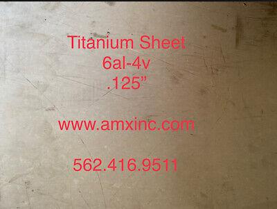 Titanium Sheet 6al-4v .125 X 12 X 12