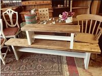 Solid pine benches 6ft ideal for extra Christmas seating! Other sizes available