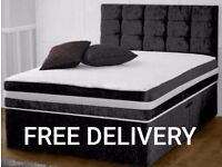 New LUXURY BEDS * Made in the UK * FREE DELIVERY AND HEADBOARD