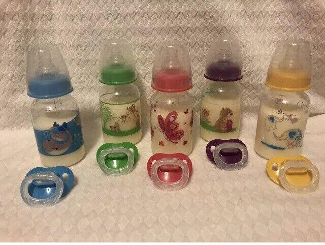 *1* Faux Fake Milk Formula Bottle Pacifier 4UR Reborn Boy or Girl Baby Doll