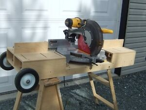Dewalt 12 inch Compound Mitre Saw with laser and custom stand