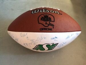 Cal Murphy Team Signed Saskatchewan Roughrider Football