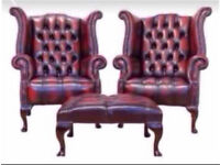 WANTED!!! Chesterfield leather any condition £££ waiting sofa Queen Anne club footstools & suites