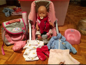 Baby born doll with bag pack and other accessories Quakers Hill Blacktown Area Preview