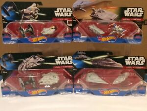 8 STAR WARS DIE CAST HOT WHEELS NEVER OPENED FOR ONLY $20