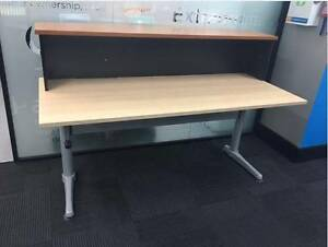 Height adjustable, two tier office desk Lane Cove West Lane Cove Area Preview