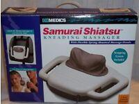 Homedics SM-555 Portable Massager Samurai Shiatsu In box with manual and straps