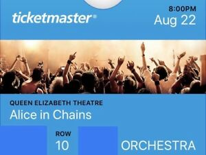 Alice In Chains concert ticket - SOLD OUT SHOW!