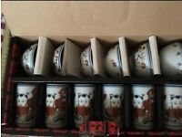 Chinese traditional cup & bowl set (New)