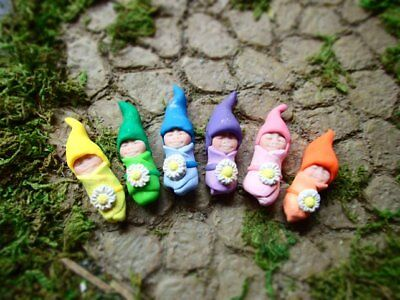 Miniature Fairy Garden Baby Gnomes! Gnome Baby Figurines, Baby Shower Decoration