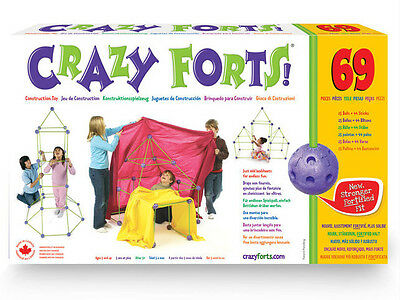 Crazy Forts CF1 Original 69 Pieces Child-Safe Play Set For Kids Ages 5 yr And Up