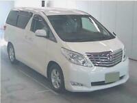 2008 Toyota Alphard NEW SHAPE 2.4 Mistral Campervan 5 door Motorhome