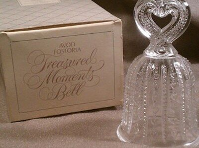 VINTAGE 1984 AVON FOSTORIA TREASURED  MOMENTS  BELL-NEW IN BOX-FREE SHIPPING