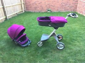 Stokke Xplory V3 Pram and Pushchairs Purple Good condition