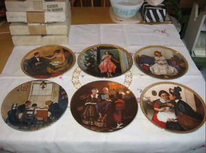 NORMAN ROCKWELL PLATES AND CUPS - COCA COLA CUPS