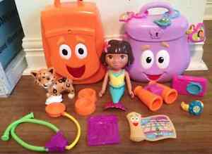 Dora and Diego Backpack Play Set