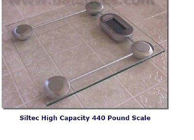 Siltecgs1 Glass Bathroom Scale Weighing Scale 440 Lb Capacity X 0.2 Lb New