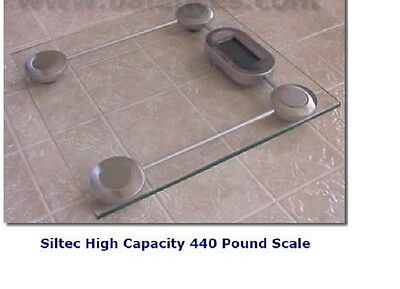 ( GS-1 Siltec glass digital bathroom scale 440 lb, NEW)