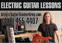 Electric Guitar Lessons - All Ages and Levels Welcome