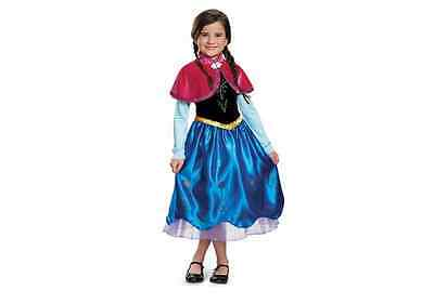 DISNEY FROZEN ANNA DELUXE COSTUME DRESS Cape & Headband Included NEW Medium - Anna Deluxe Costume