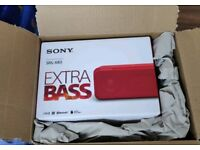 Sony SRS XB3 Wireless Bluetooth Portable Speaker Limited Edition Red
