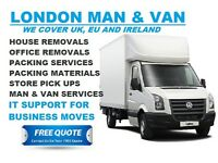 24/7 Man and van Hire House Removals Office Flat Move London Essex Kent Rubbish Clearance