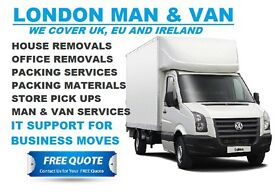 MAN AND VAN HIRE, HOUSE REMOVALS, OFFICE MOVING IN LONDON. COURIER SERVICE DELIVERIES, RUBBISH CLEAR
