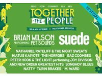 TOGETHER THE PEOPLE 2016 Brighton Festival 1:00pm - 10:00pm £98 for 2 Adult tickets