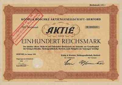 König Böschke 1930 Herford Westfalen CORONET Wald Michelbach 100 RM Besen Bürste