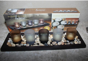 Candle Set in Earth Tone