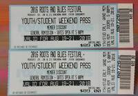 Roots & Blues....2 STUDENT Tickets