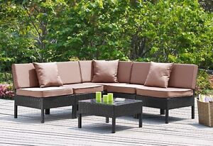 NEW 6 Pc Outdoor Sectional
