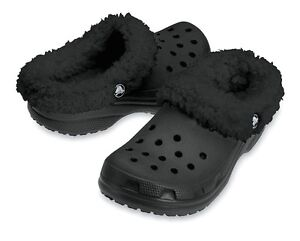 NEW CROCS Shoes REMOVABLE LINER Kids Toddler Mammoth Girls/Boys 6/7 Black Youth